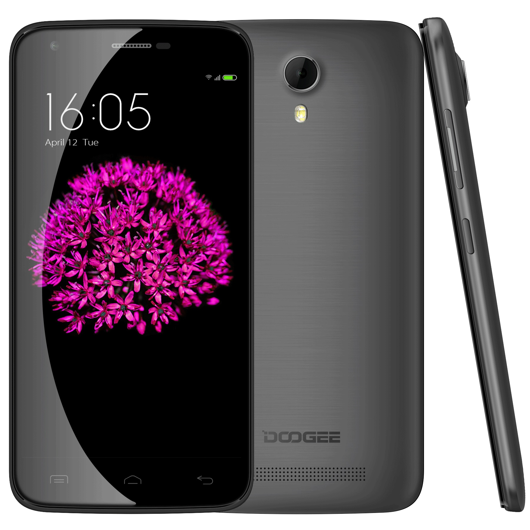 DOOGEE VALENCIA2 Y100 Pro Smartphone 5.0 Inch 4G MTK6735P Android 5.1 2GB 16GB Black