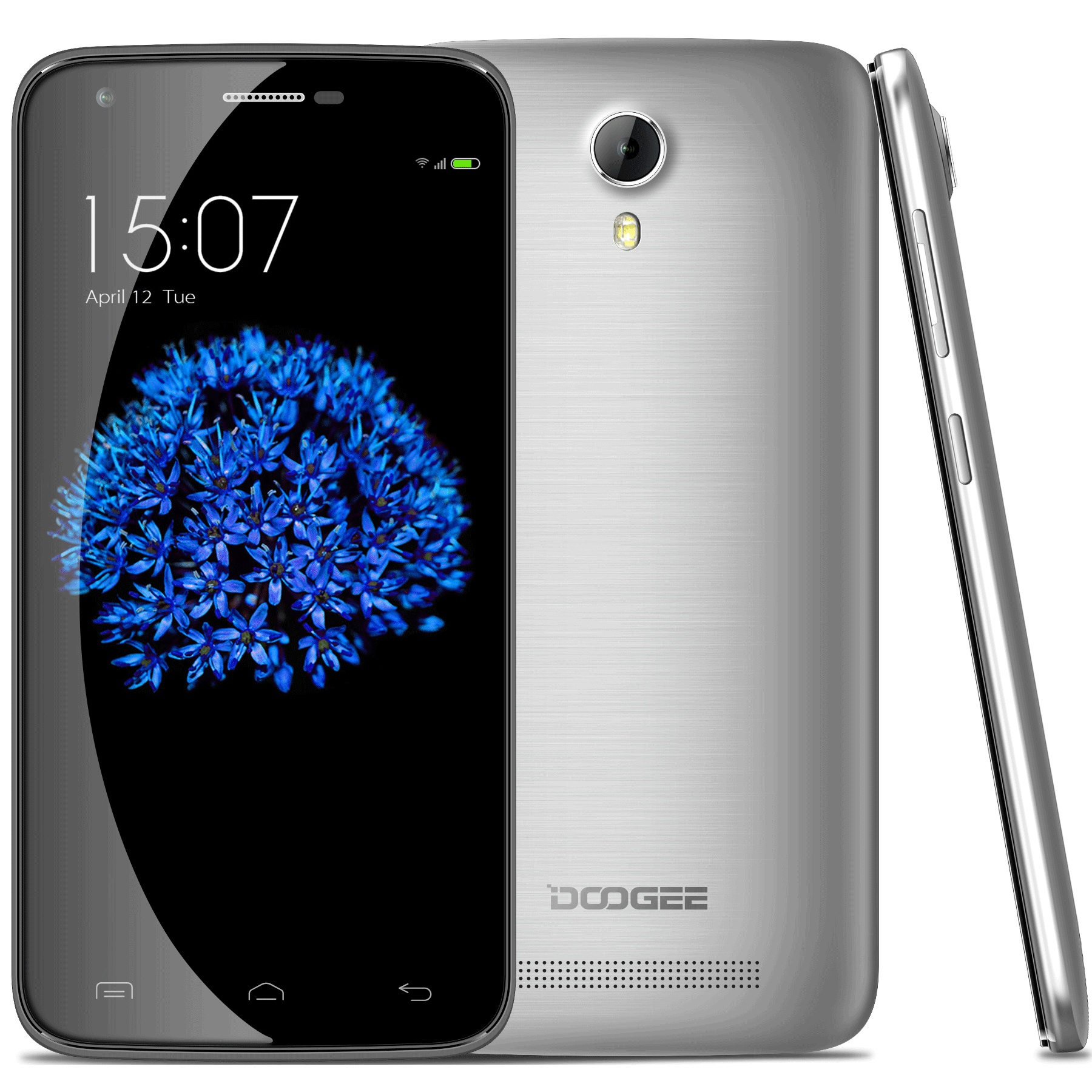 DOOGEE VALENCIA2 Y100 Pro Smartphone 5.0 Inch 4G MTK6735P Android 5.1 2GB 16GB Silver