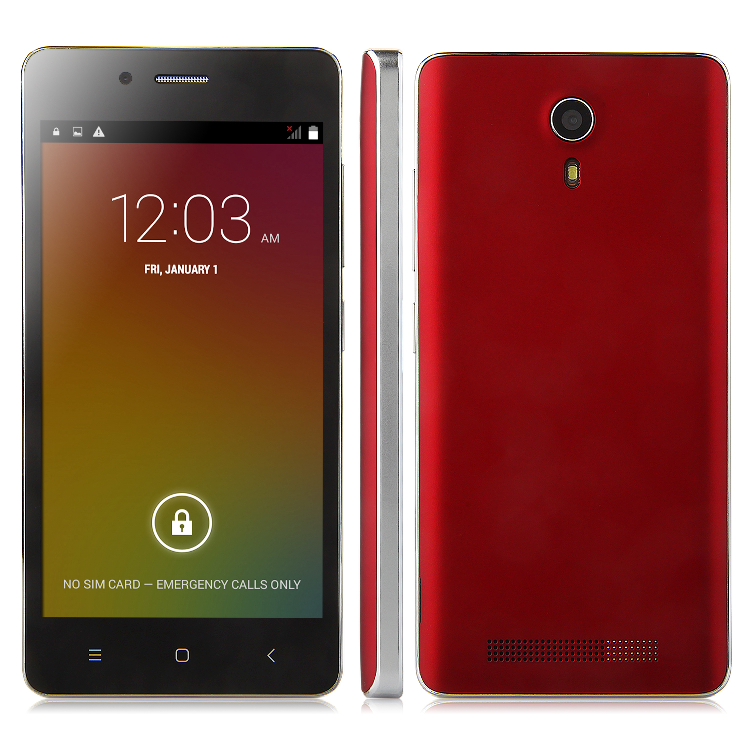 Tengda V19 Smartphone Android 4.4 MTK6572W 4.5 Inch 3G GPS Red