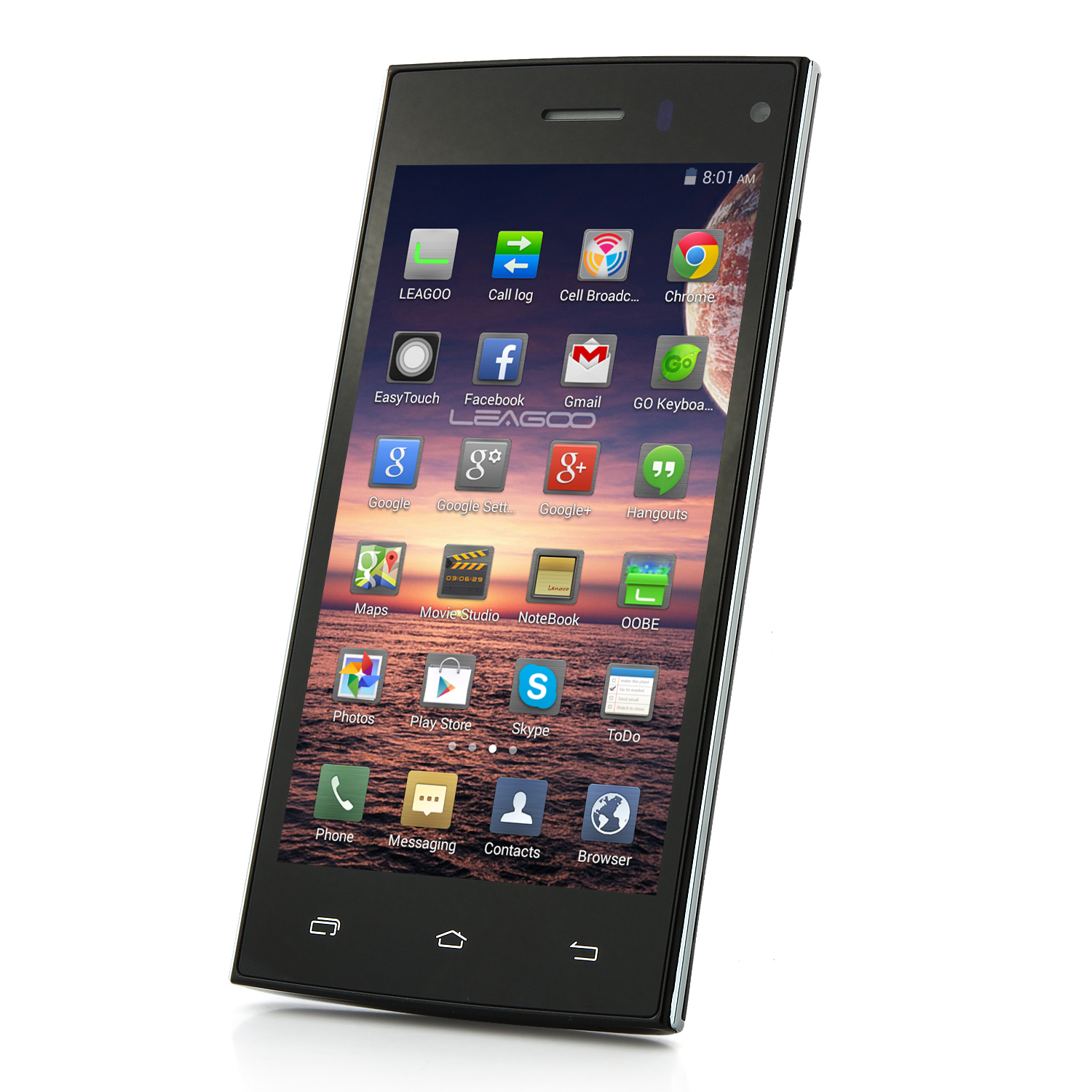 Leagoo Lead 3 Smartphone Android 4.4 MTK6582 4.5 Inch QHD Screen 3G GPS Black