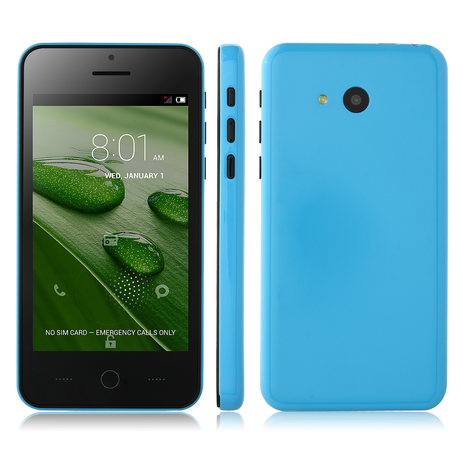 Tengda A18 Smartphone Android 4.2 MTK6572W 4.0 Inch 3G GPS Play Store Blue