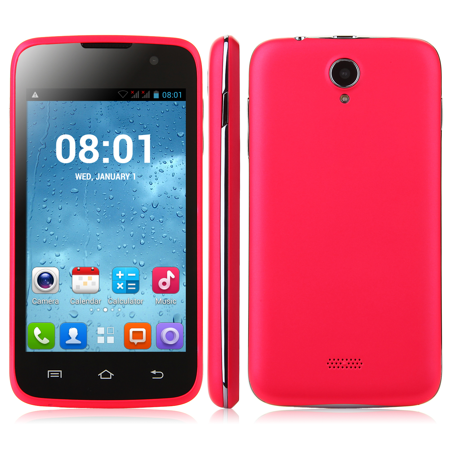 Tengda A48 Smartphone Android 4.2 MTK6572W 4.0 Inch 3G Wifi Play Store Pink