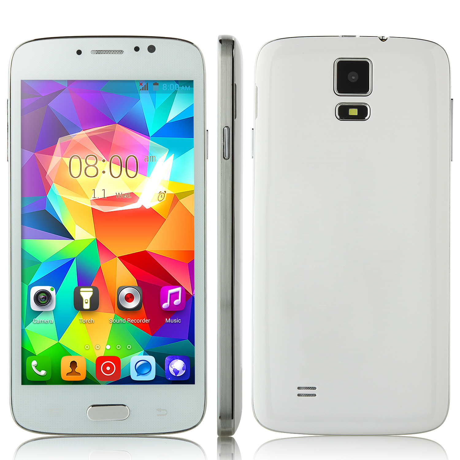 F-G906+ Smartphone Android 4.2 MTK6572W 5.0 Inch 3G GPS White