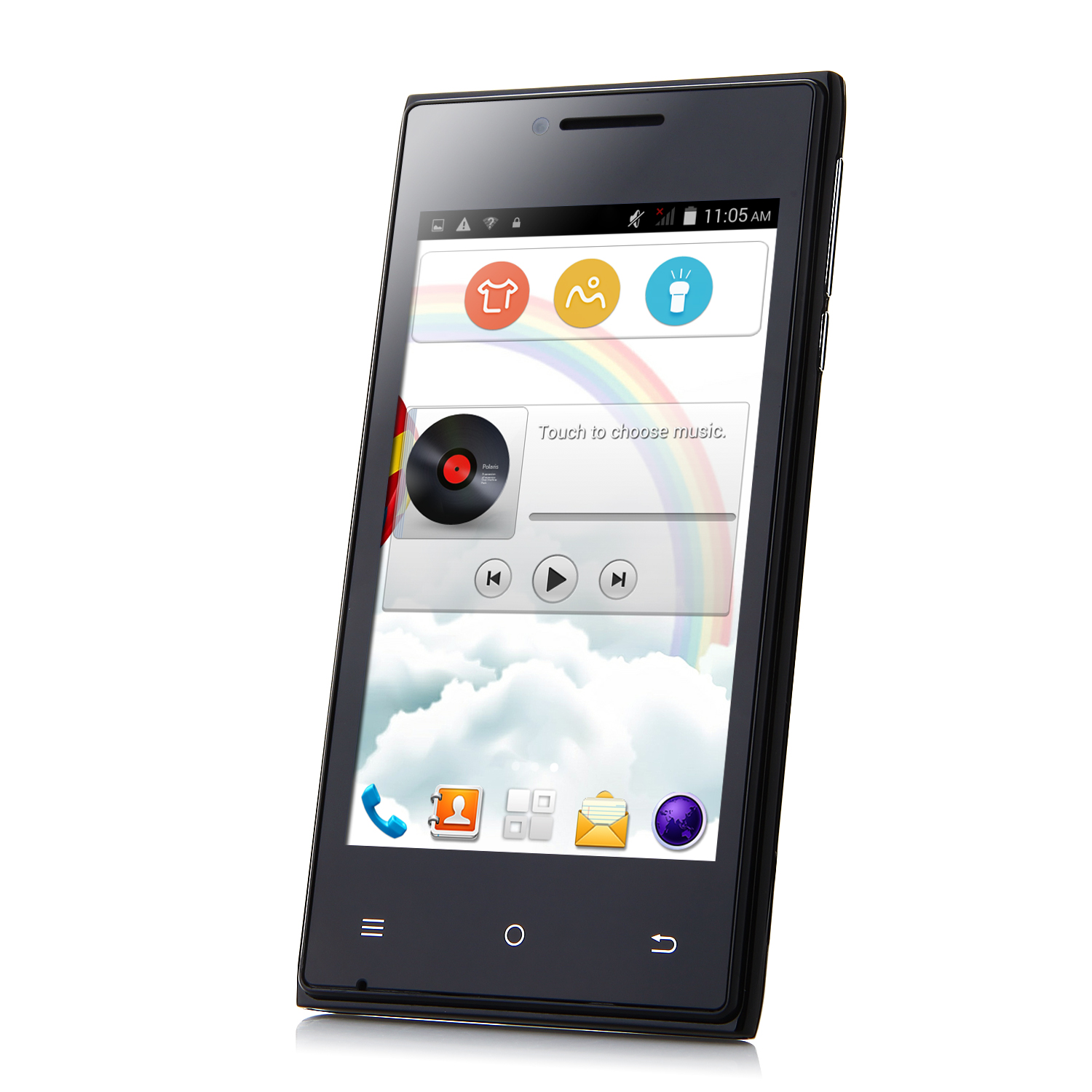 Cubot GT72+ Smartphone Android 4.4 MTK6572W Dual Core 4.0 Inch 3G Wifi Black