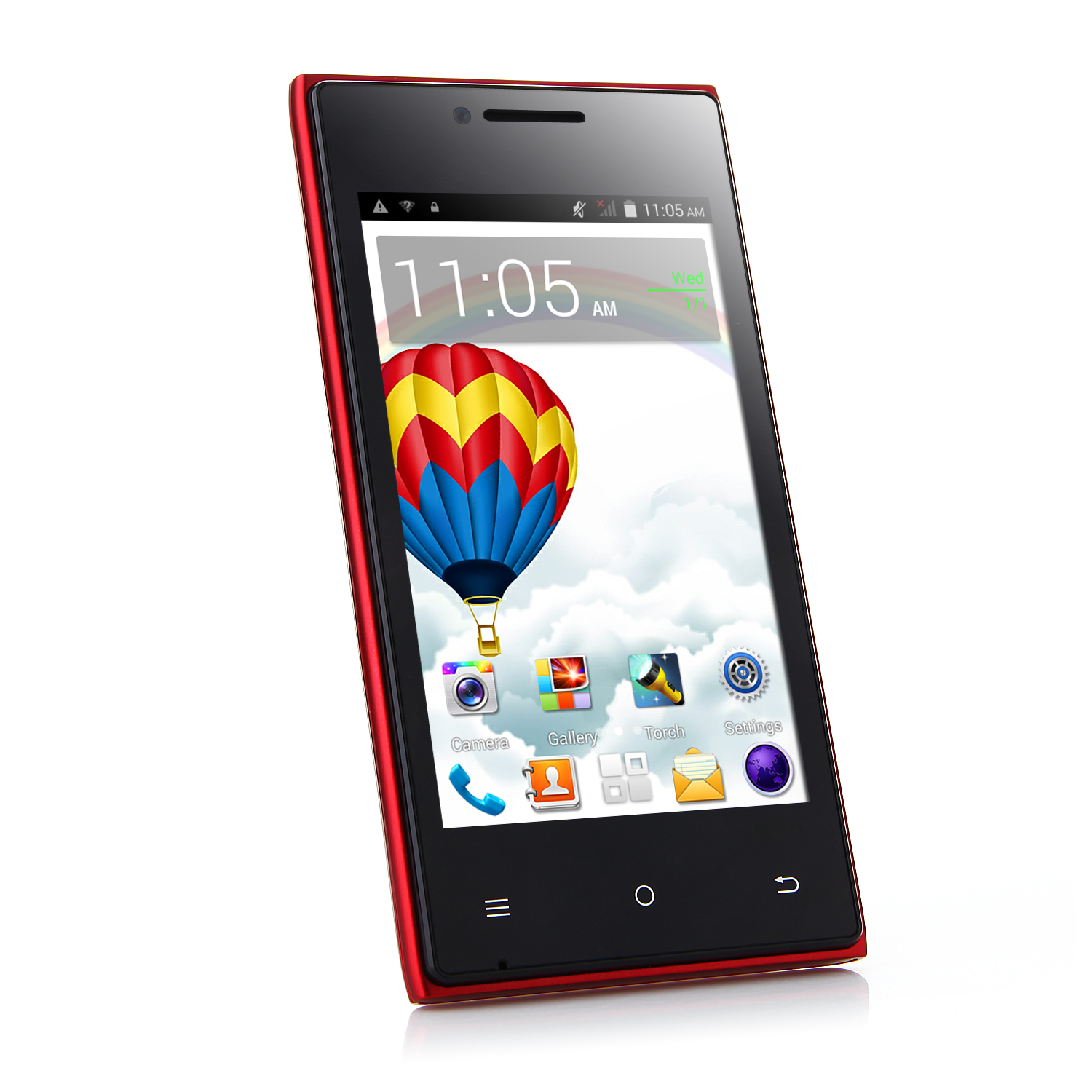 Cubot GT72+ Smartphone Android 4.4 MTK6572W Dual Core 4.0 Inch 3G Wifi Red