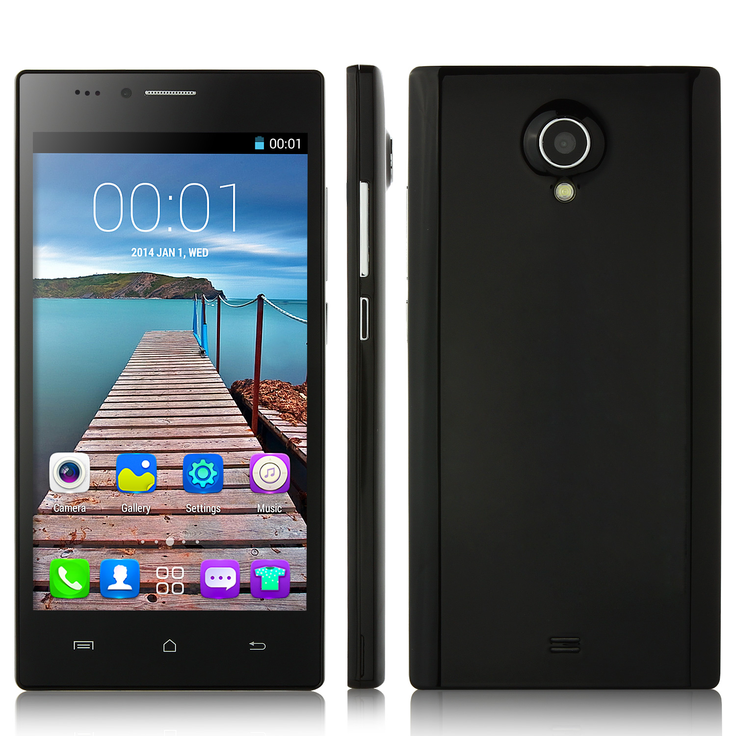 Mpie S310 Smartphone 5.0 Inch Android 4.4 MTK6572W 3G GPS Black