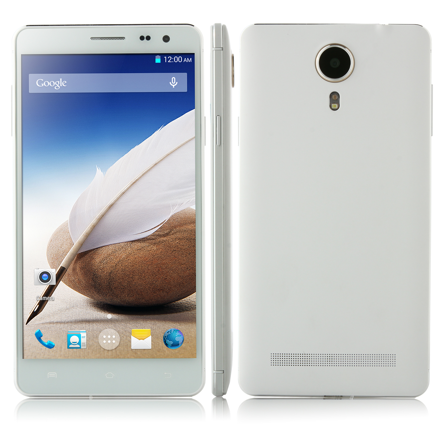 Kingelon V3 Smartphone Android 4.4 MTK6582 Quad Core 5.5 Inch HD Screen 1GB 8GB White