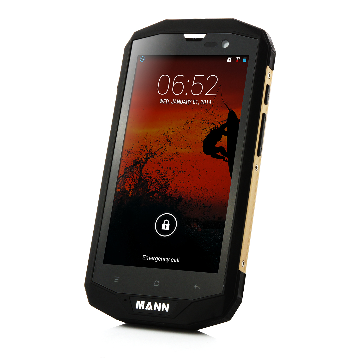 MANN ZUG 5S Smartphone 4G LTE IP67 Android 4.4 Quad Core 5.0 Inch HD Screen Black&Gold