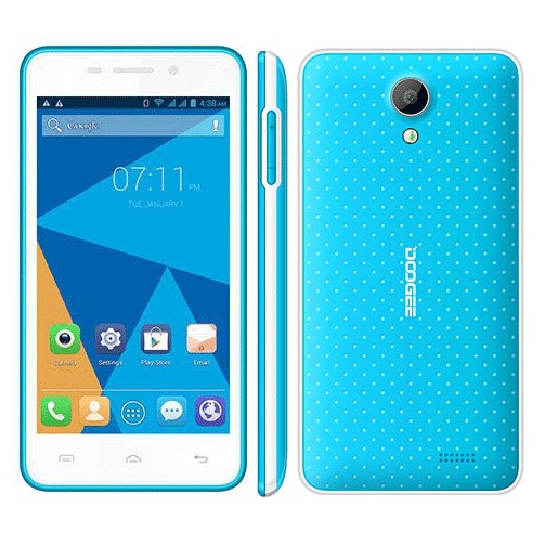 DOOGEE LEO DG280 Smartphone Anti-shock Android 5.0 MTK6582 1GB 8GB 4.5 Inch Blue