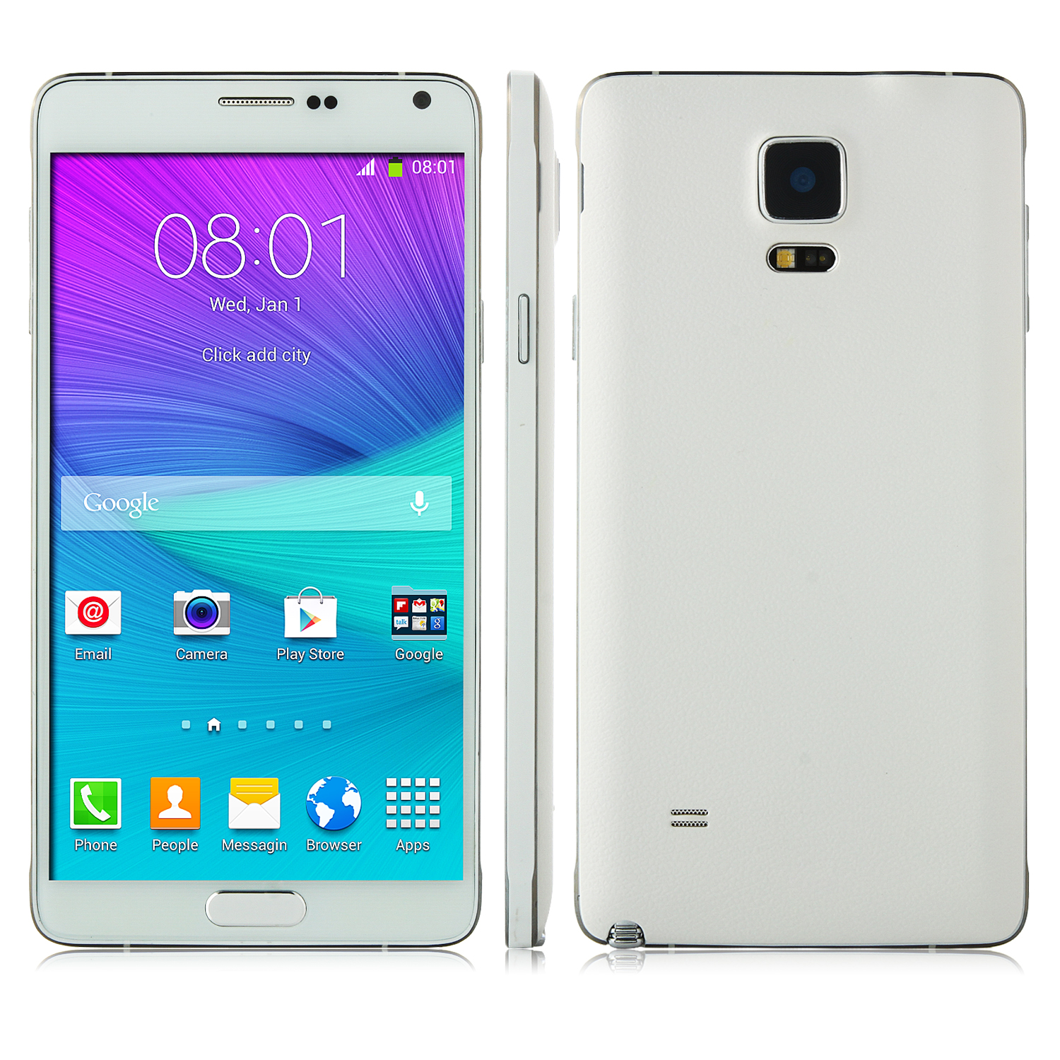 Tengda i9199 Smartphone 5.7 Inch HD Screen MTK6582 Quad Core 1GB 8GB OTG White