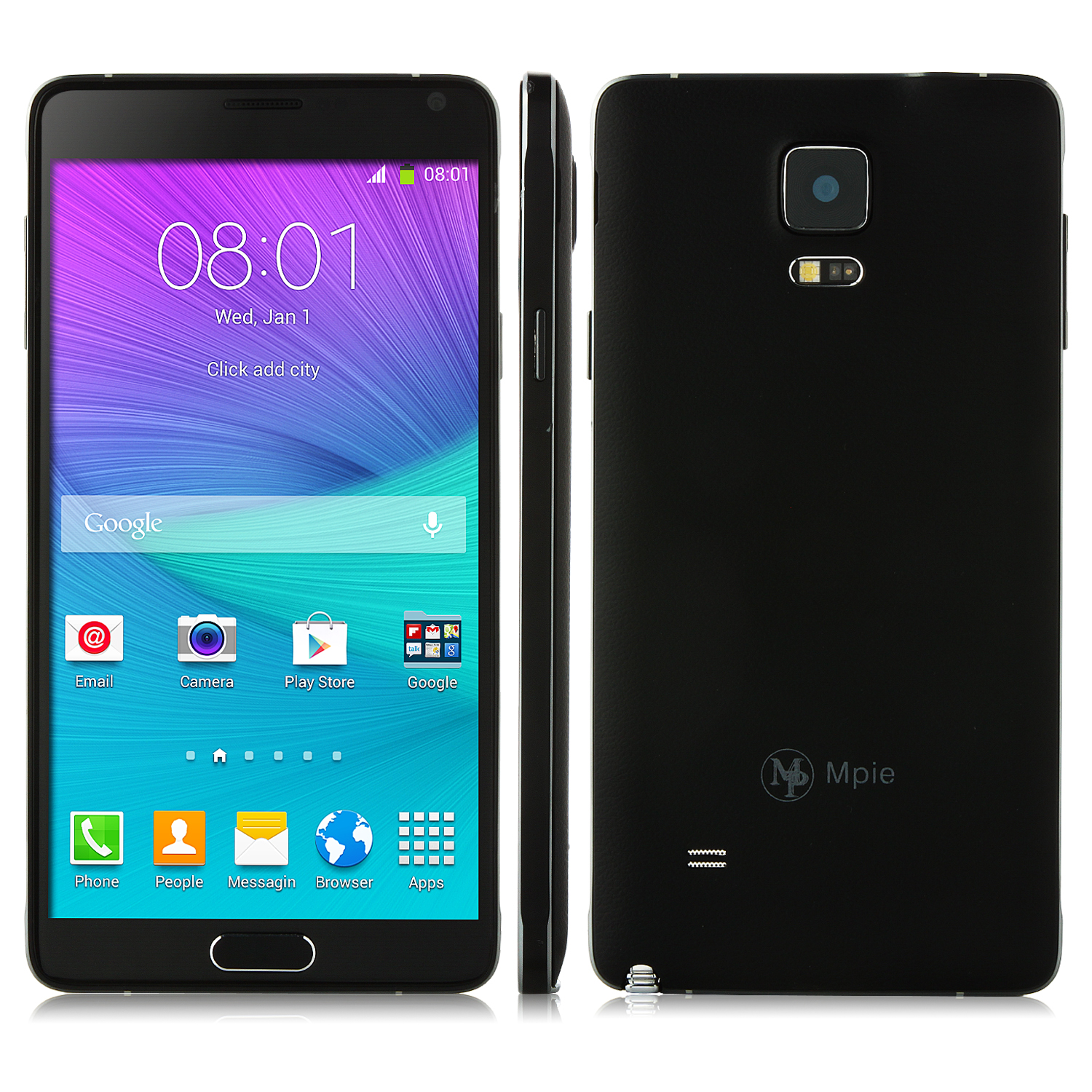 Tengda i9199 Smartphone 5.7 Inch HD Screen MTK6582 Quad Core 1GB 8GB OTG Black