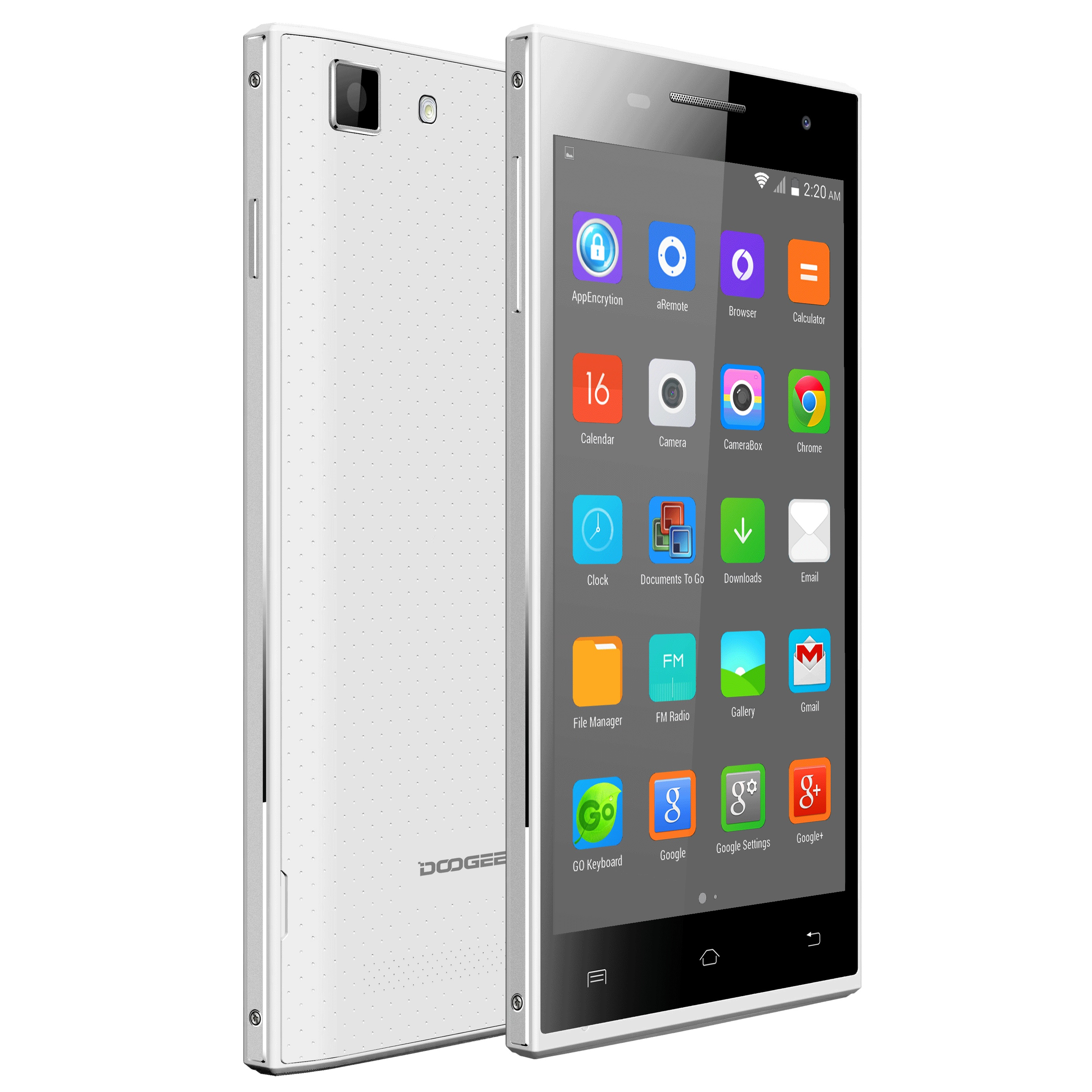 "DOOGEE Turbo Mini F1 4G Smartphone 64bit MTK6732 Quad Core 1GB 8GB 4.5"" QHD White"