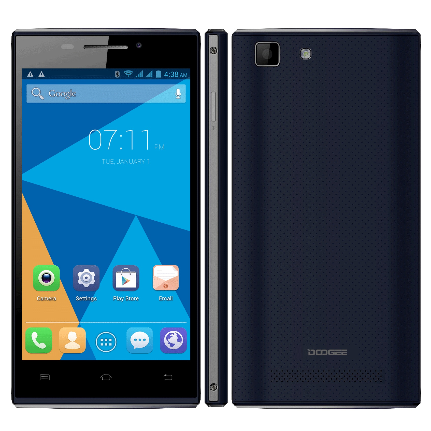 "DOOGEE Turbo Mini F1 4G Smartphone 64bit MTK6732 Quad Core 1GB 8GB 4.5"" QHD Deep Blue"