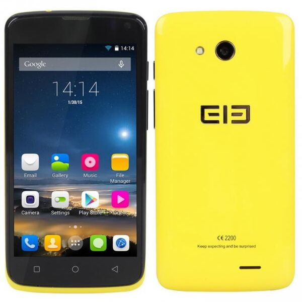 Elephone G2 4G Smartphone Android 5.0 64bit MTK6732M Quad Core 1GB 8GB 4.5 Inch Yellow