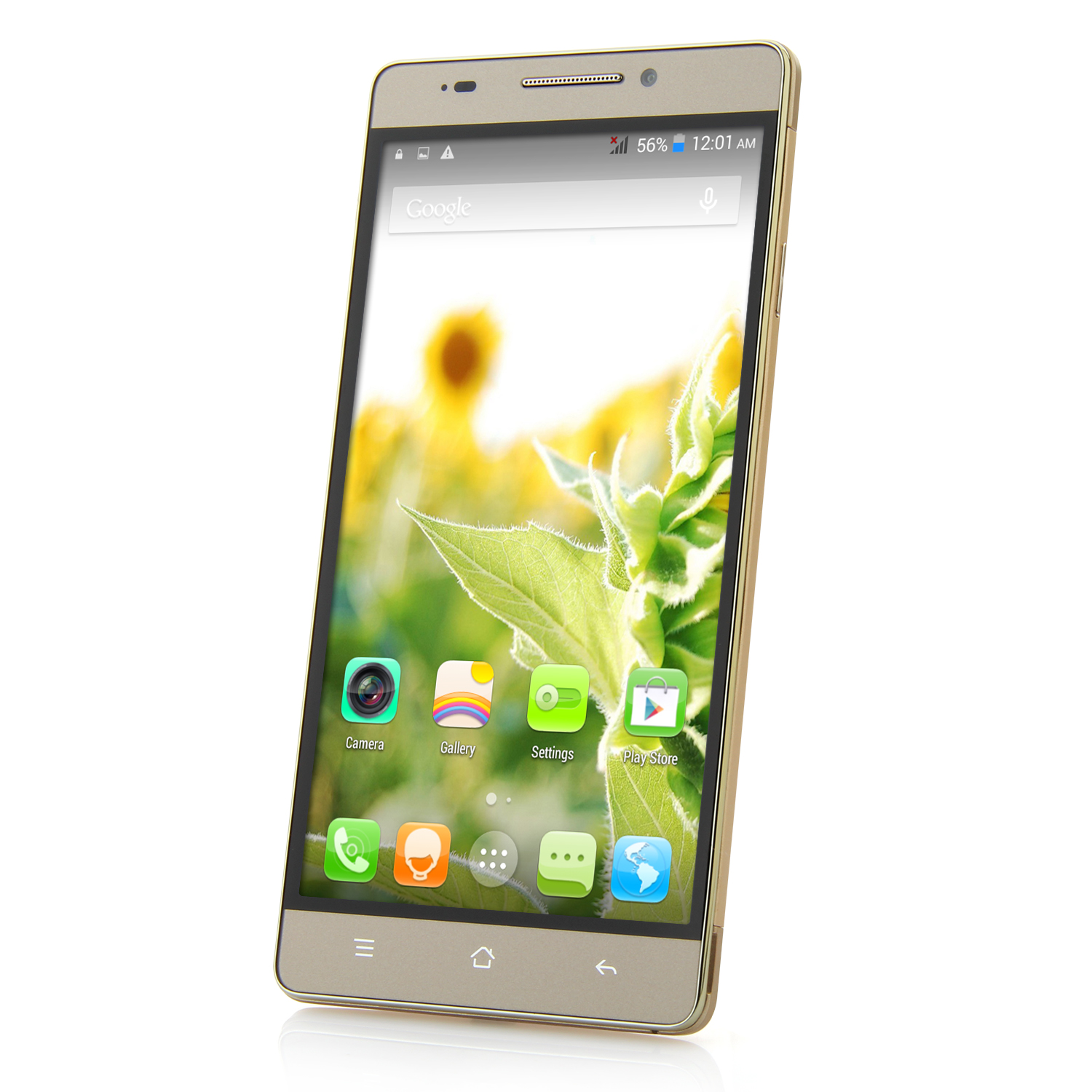 M7 Smartphone Android 4.4 MTK6582 Quad Core 1GB 8GB 5.5 Inch QHD Screen Gold