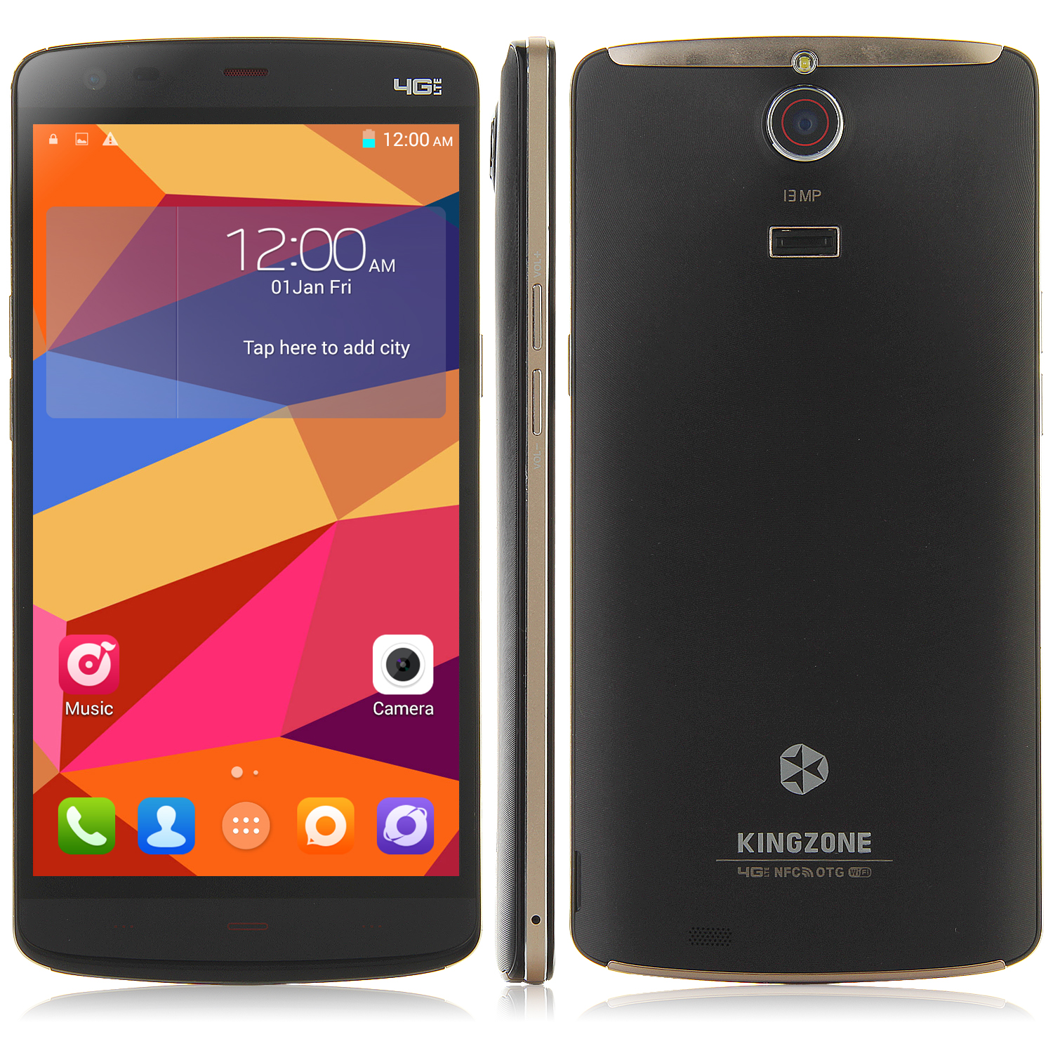 KINGZONE Z1 4G Smartphone 64bit MTK6752 Octa Core 2GB 16GB 5.5 Inch HD Screen