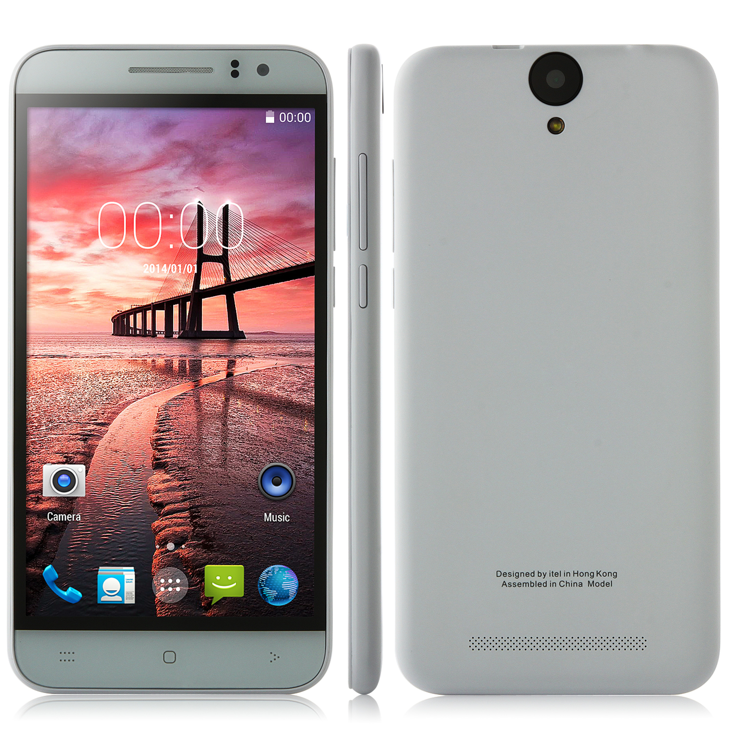 Tengda M55 Smartphone MTK6582 Quad Core 1GB 8GB 5.5 Inch HD Screen 13.0MP White