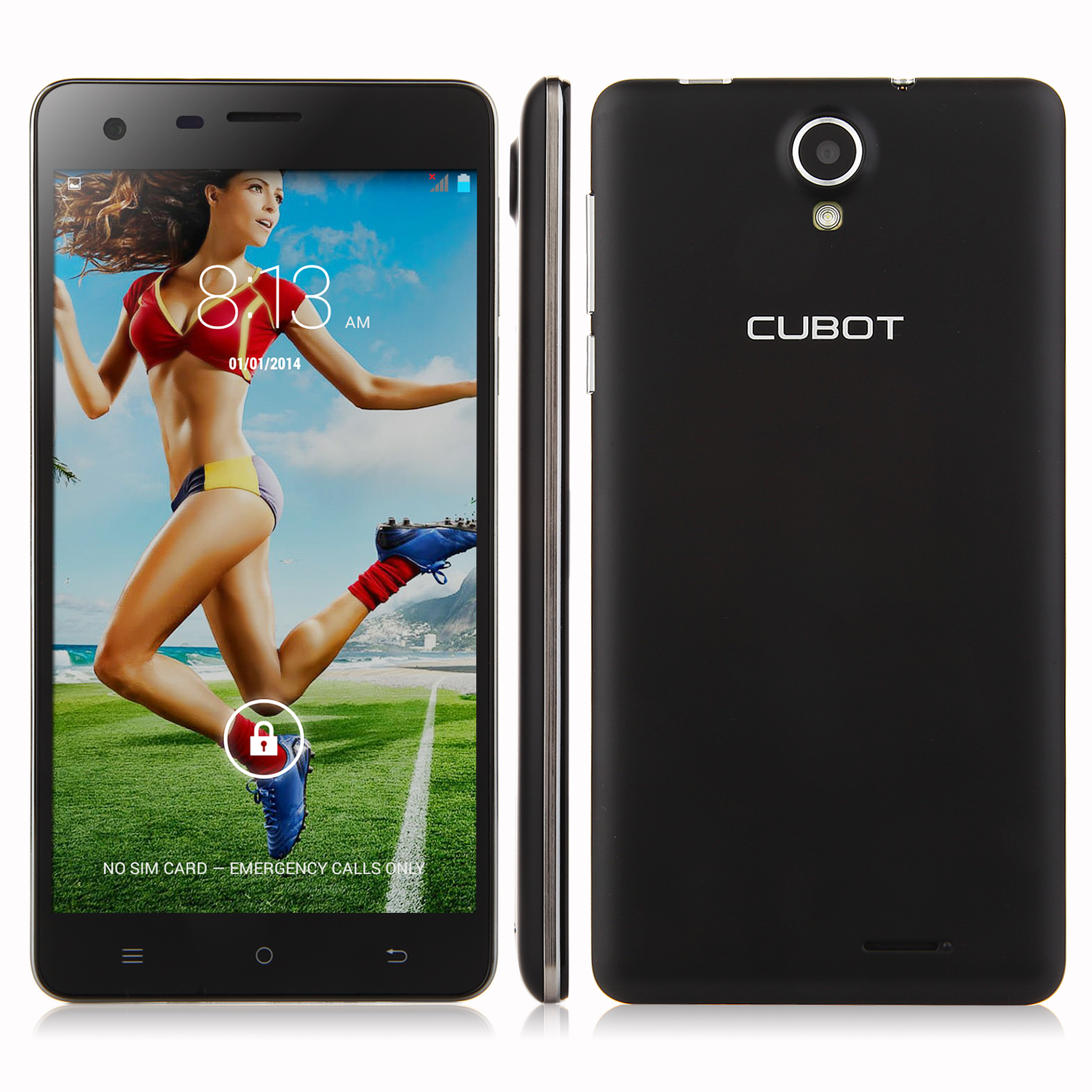 CUBOT S350 Smartphone MTK6582 Quad Core 2GB 16GB 5.5 Inch HD Screen OTG Black
