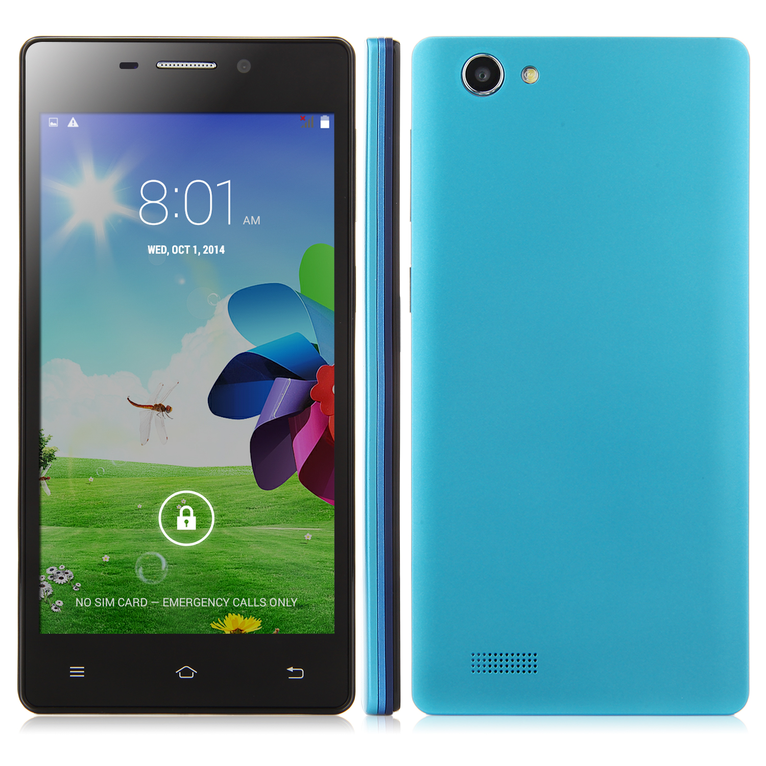X2 Smartphone Android 4.4 MTK6572W 5.0 Inch QHD Screen Smart Wake Blue