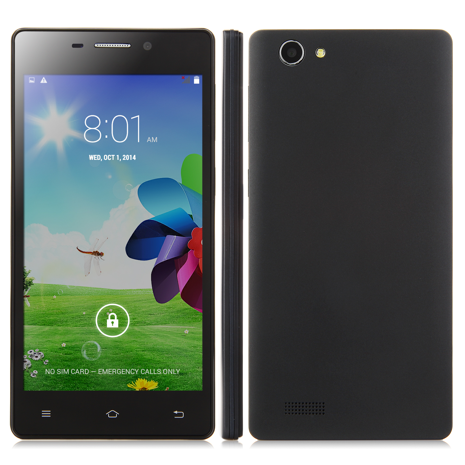 X2 Smartphone Android 4.4 MTK6572W 5.0 Inch QHD Screen Smart Wake Black