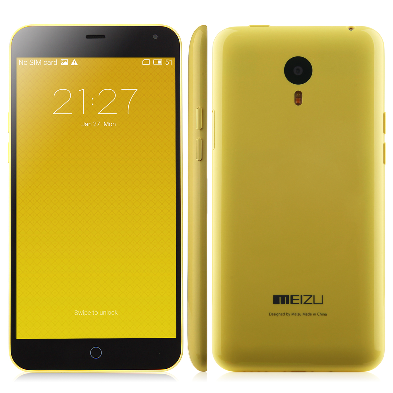 MEIZU m1 note 64bit Octa Core FDD LTE 5.5 Inch Gorilla Glass 2GB 16GB 3140mAh Yellow