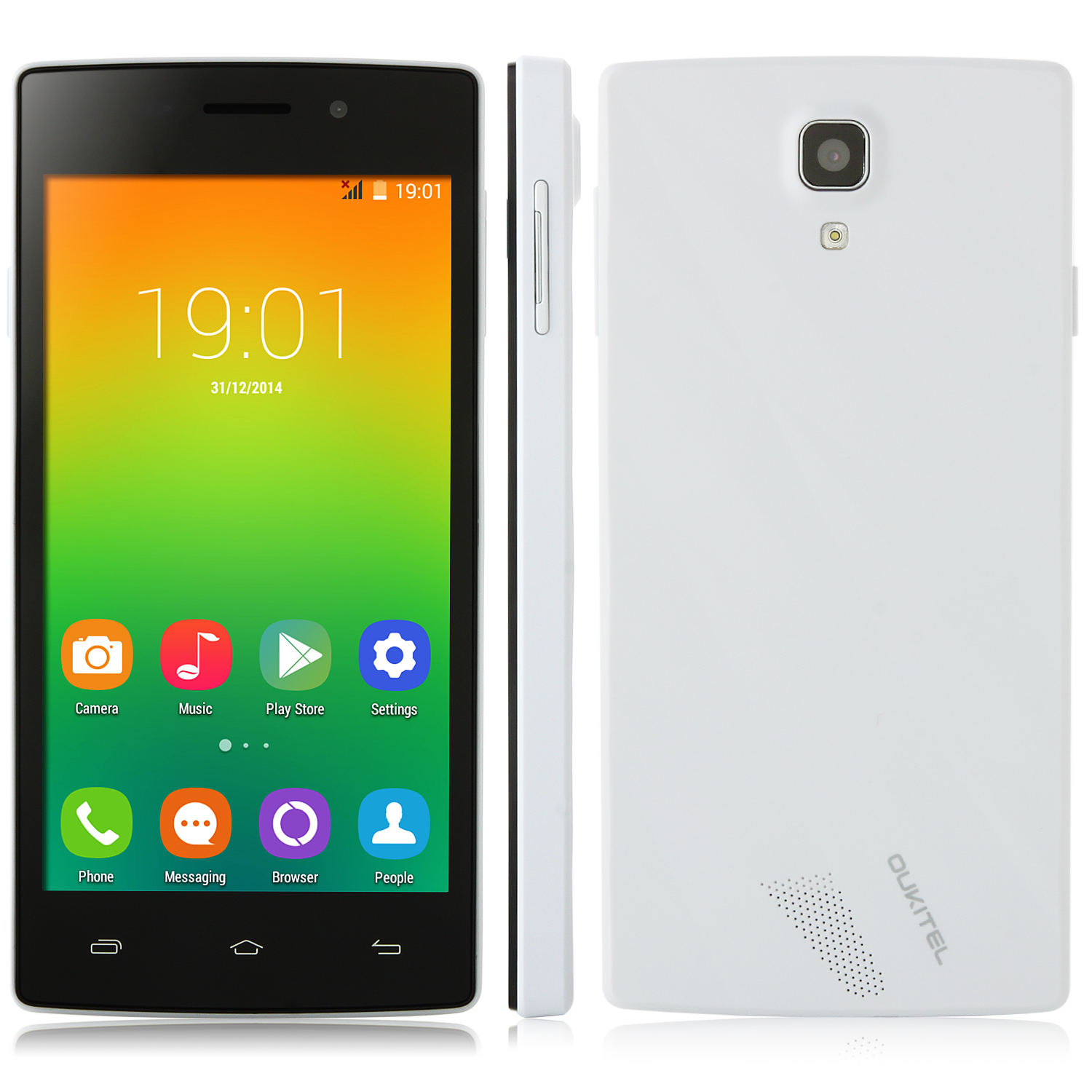OUKITEL Original One Smartphone Android 4.4 MTK6582 Quad Core 4.5 Inch IPS Screen White