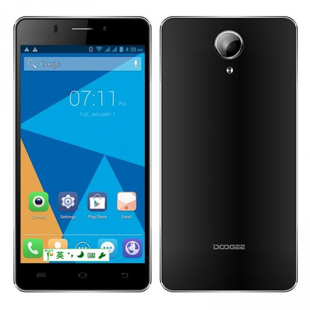 DOOGEE IBIZA F2 4G Smartphone 64bit MTK6732 Quad Core 1GB 8GB 5.0 Inch IPS Screen Black