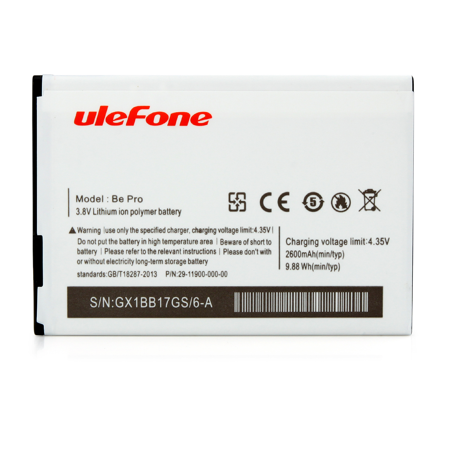 "uleFone Be Pro Smartphone Android 5.0 4G 64bit MTK6732 Quad Core 5.5"" 2GB 16GB Black"