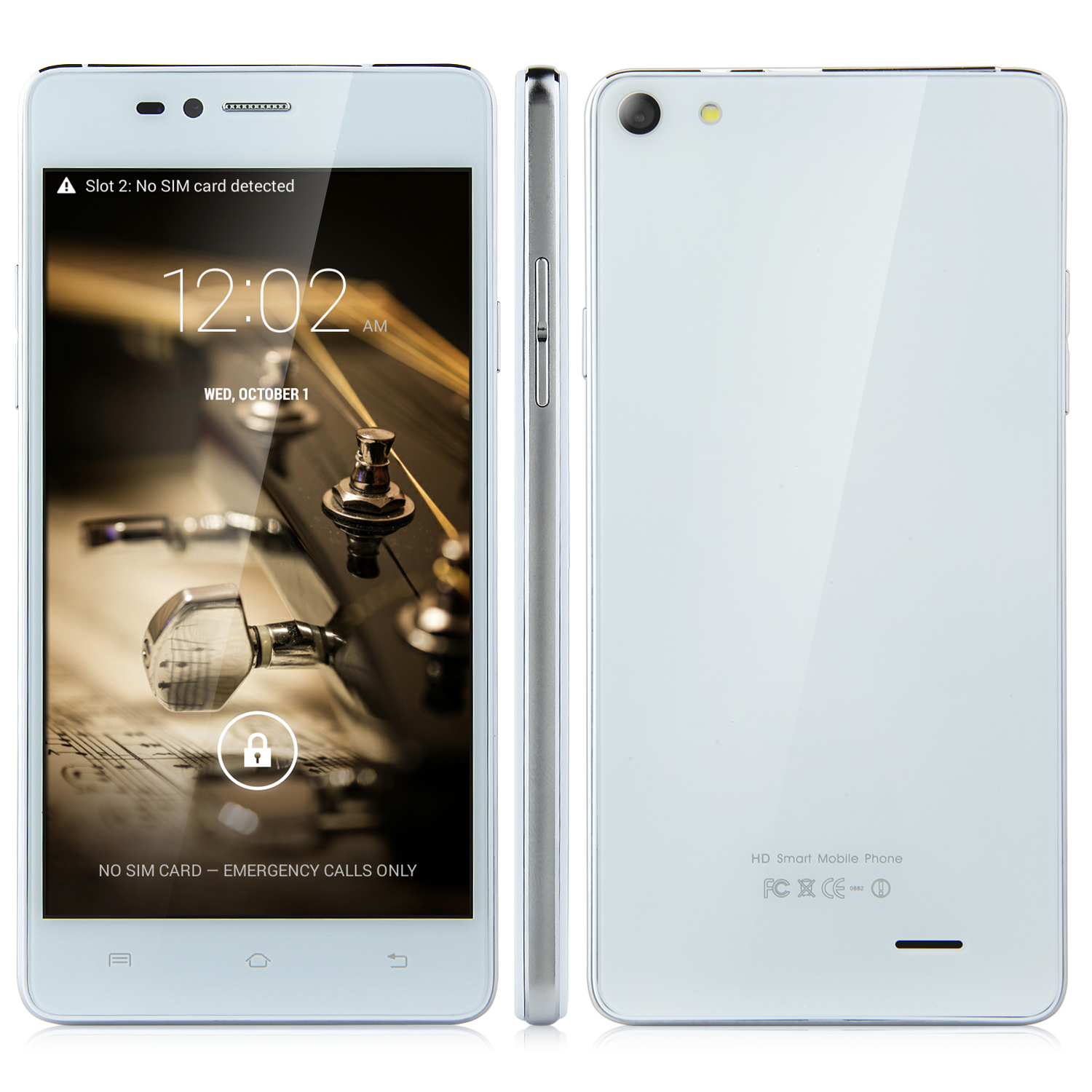Tengda Z4 Smartphone 5.0 Inch QHD MTK6572W Android 4.4 Smart Wake White&Silver