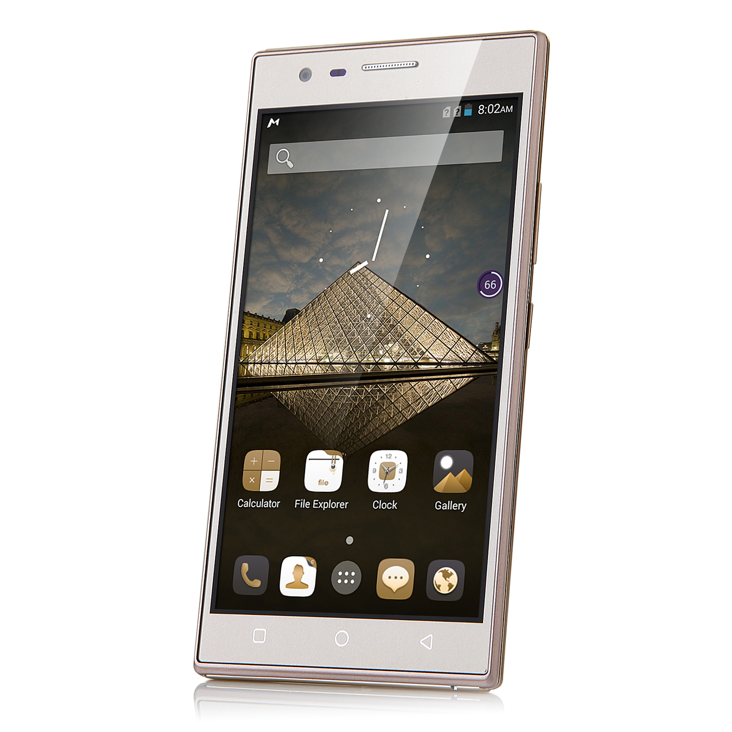 Tengda P7 Smartphone 5.0 Inch QHD Screen Quad Core Android 4.4 3G GPS Gold