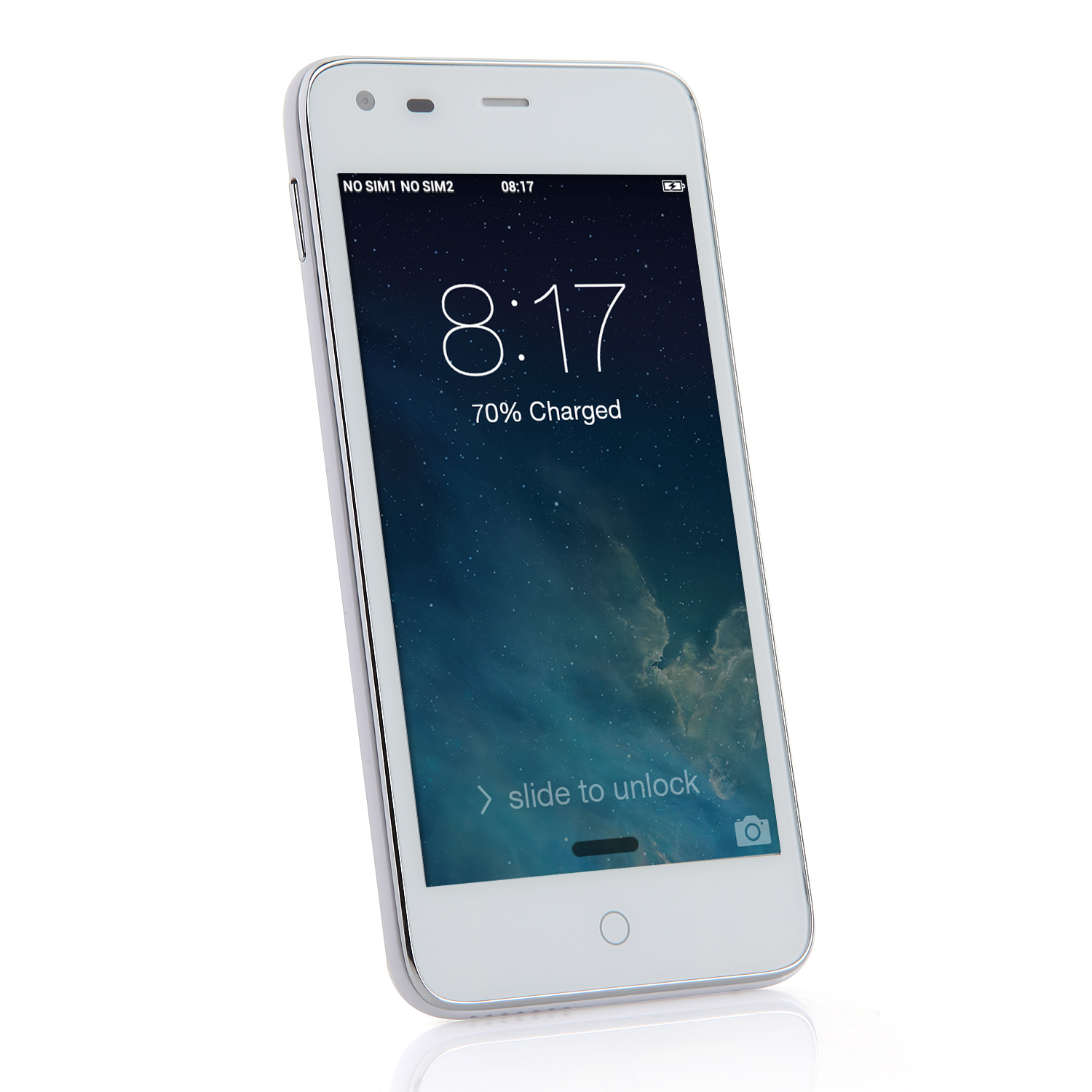 Tengda X5 Smartphone 4.5 Inch SC6825 Dual Core Android 4.0 Dual Camera White