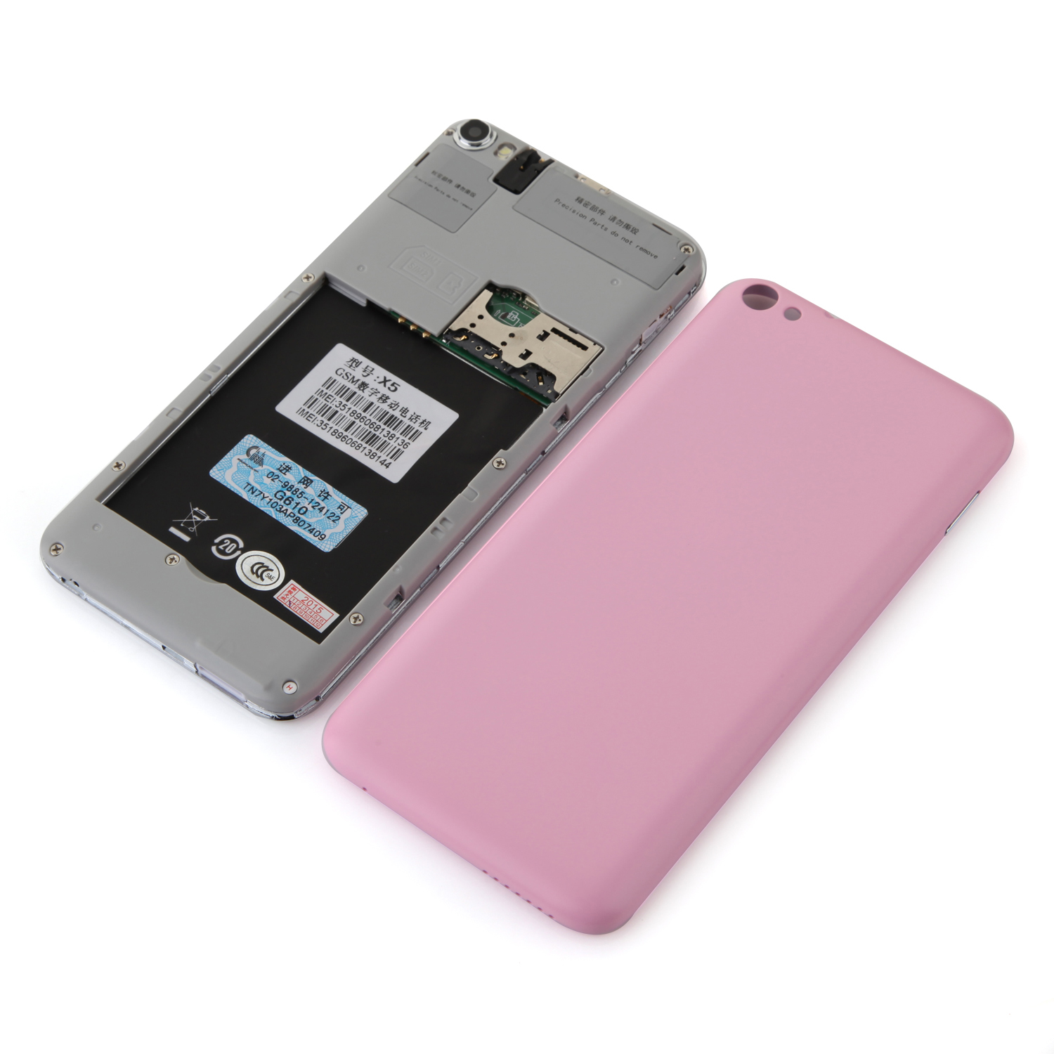 Tengda X5 Smartphone 4.5 Inch SC6825 Dual Core Android 4.0 Dual Camera Pink