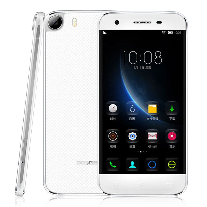 DOOGEE F3 4G Smartphone Glass Shell 5.0 Inch HD Octa Core Android 5.1 2GB 16GB White