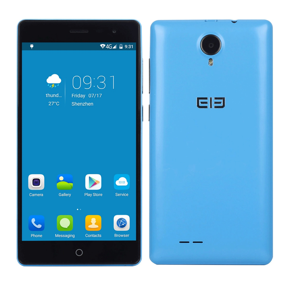 Elephone Trunk Smartphone 4G 64bit Snapdragon 410 Android 5.1 5.0 Inch 2GB 16GB Blue