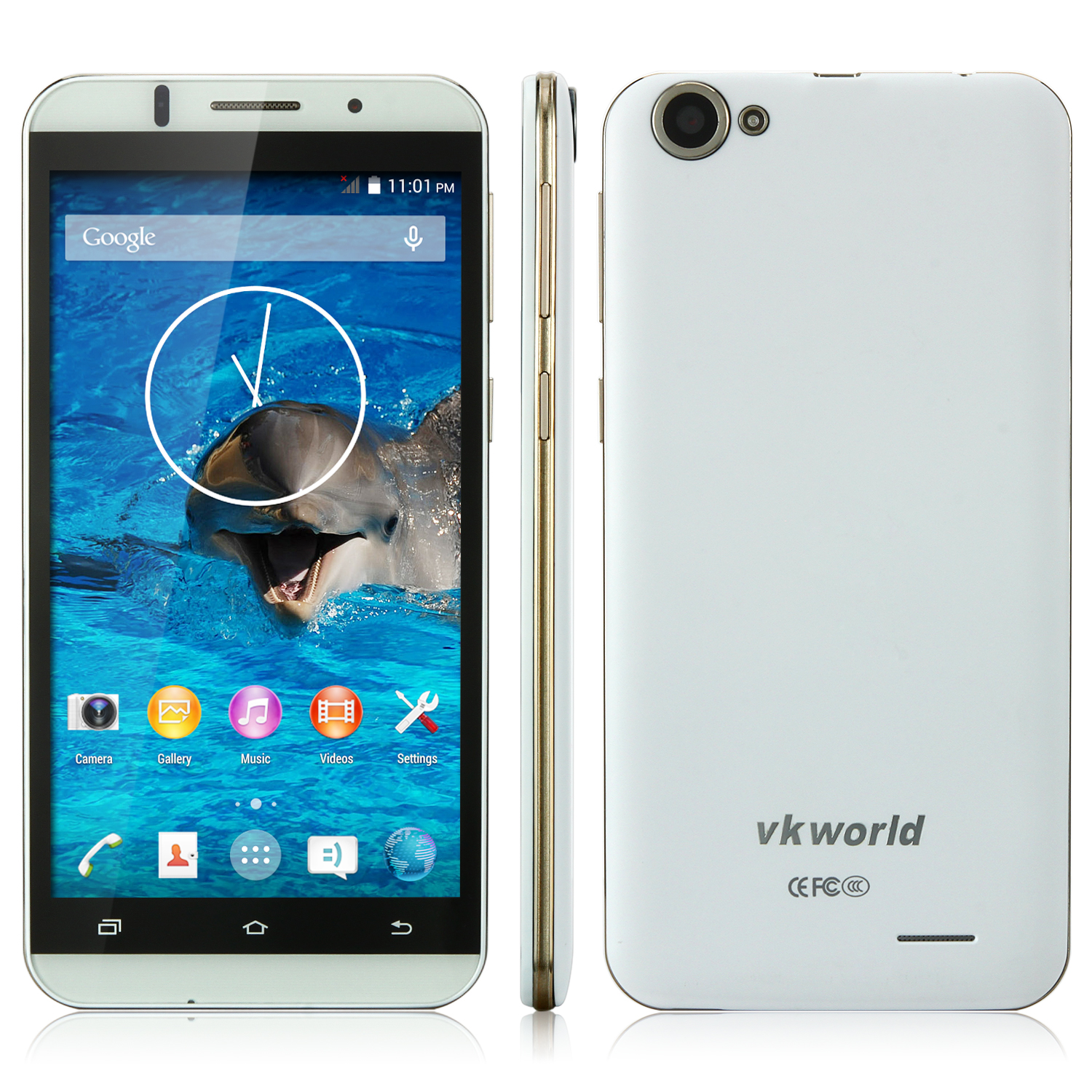 VKworld VK700 Smartphone 5.5 Inch HD Screen MTK6582 Quad Core 1GB 8GB 3200mAh White