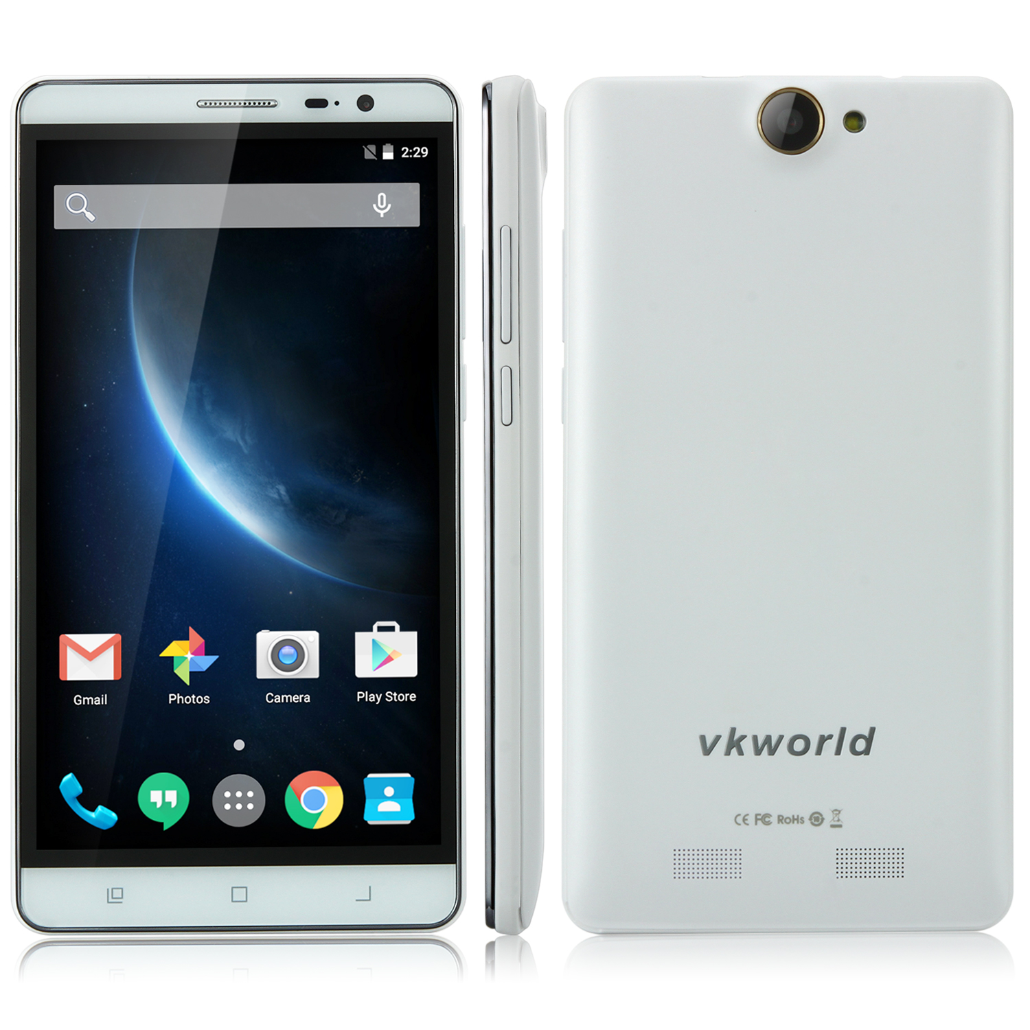 VKworld VK6050S Smartphone 5.5 Inch HD MTK6735 Android 5.1 2GB 16GB 6050mAh White
