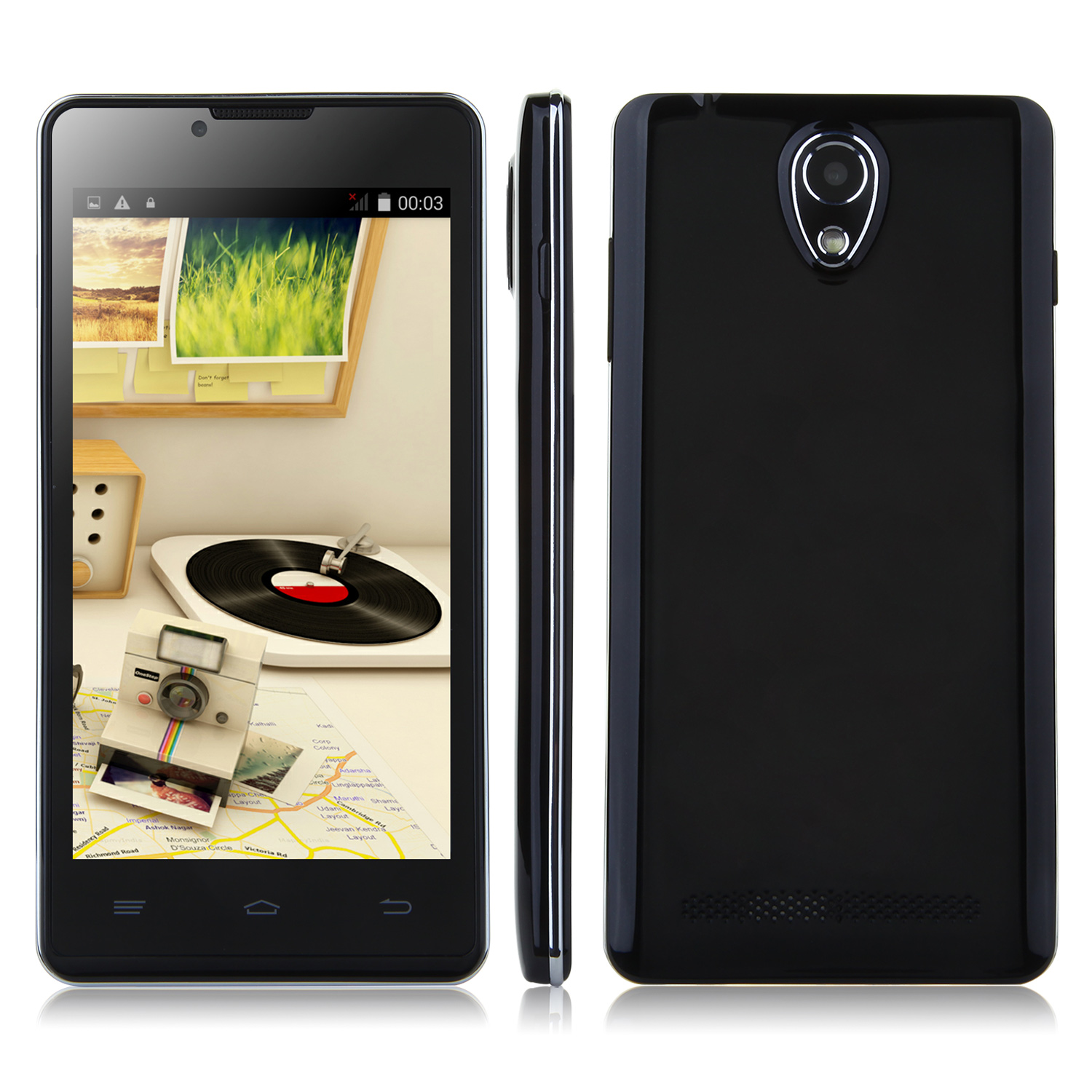 Tengda P9 Smartphone Android 4.4 MTK6572W 3G GPS 4.5 Inch - Black
