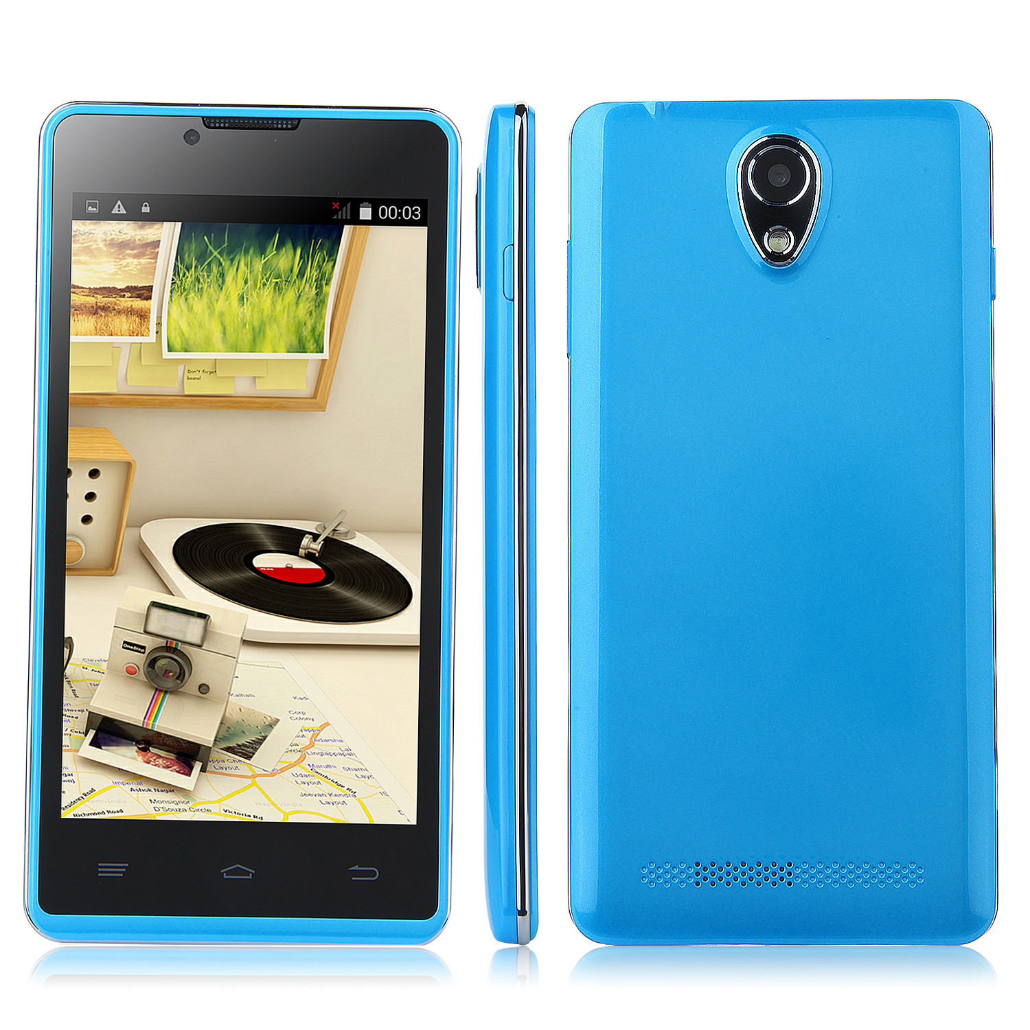 Tengda P9 Smartphone Android 4.4 MTK6572W 3G GPS 4.5 Inch - Blue