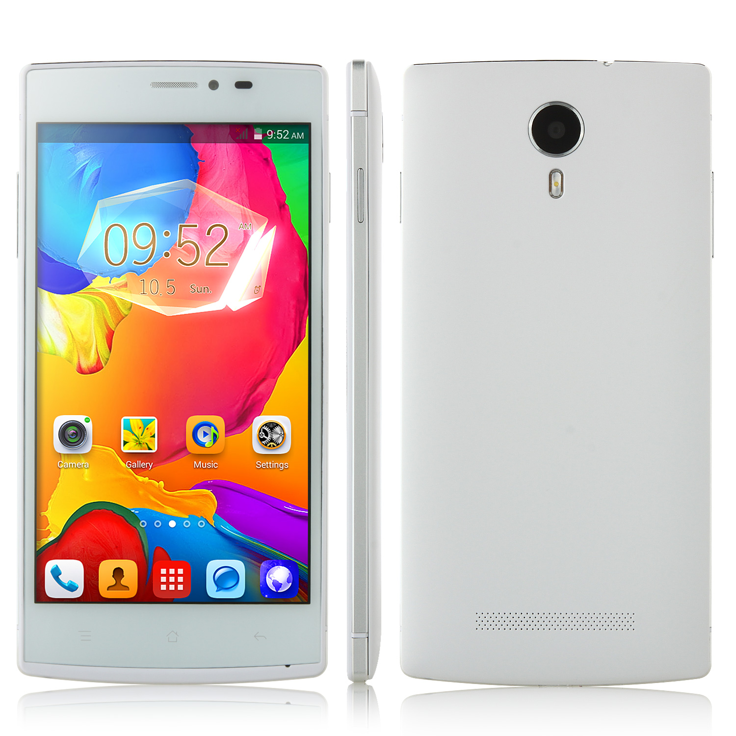 Nandan F7 Smartphone Android 4.4 MTK6582 Quad Core 3G Smart Wake 5.0 Inch Silver Side