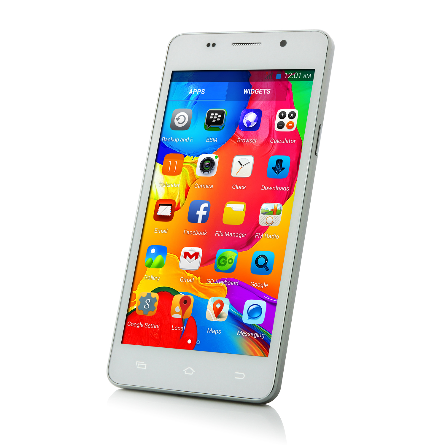 JIAKE M4 Smartphone Android 4.4 MTK6572 Dual Quad 5.0 Inch 2800mAh Battery White