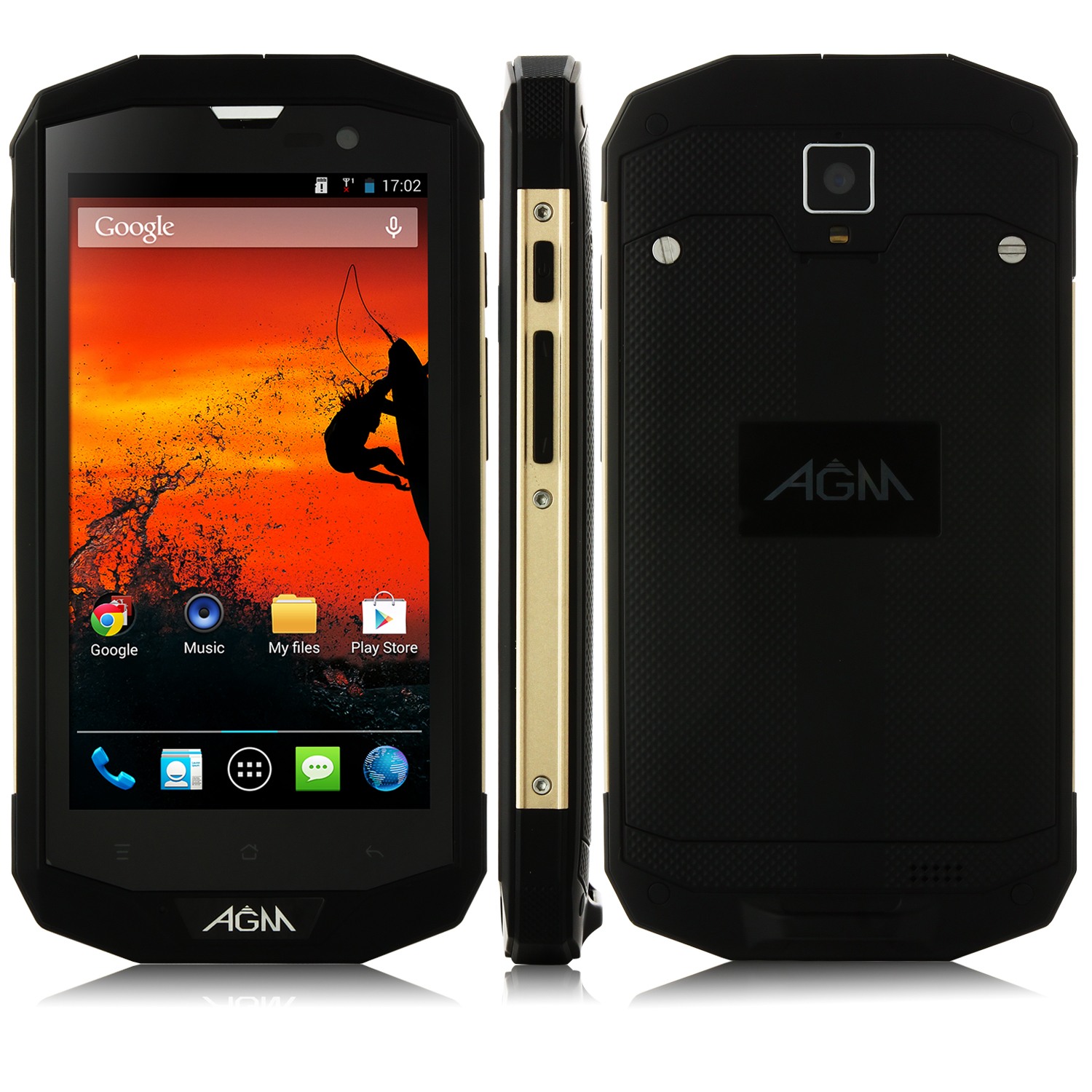 AGM STONE 5S Smartphone 4G LTE Quad Core IP67 Tri-proof 1GB 8GB 4050mAh 5.0 Inch Black