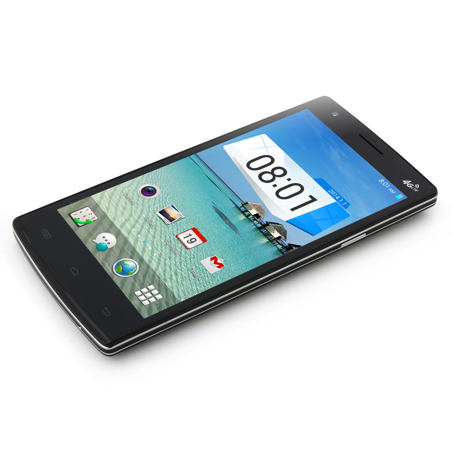 Mpie G7 Smartphone 4G LTE Android 4.4 MTK6582 Quad Core 2GB 8GB 5.0 Inch OTG NFC Black