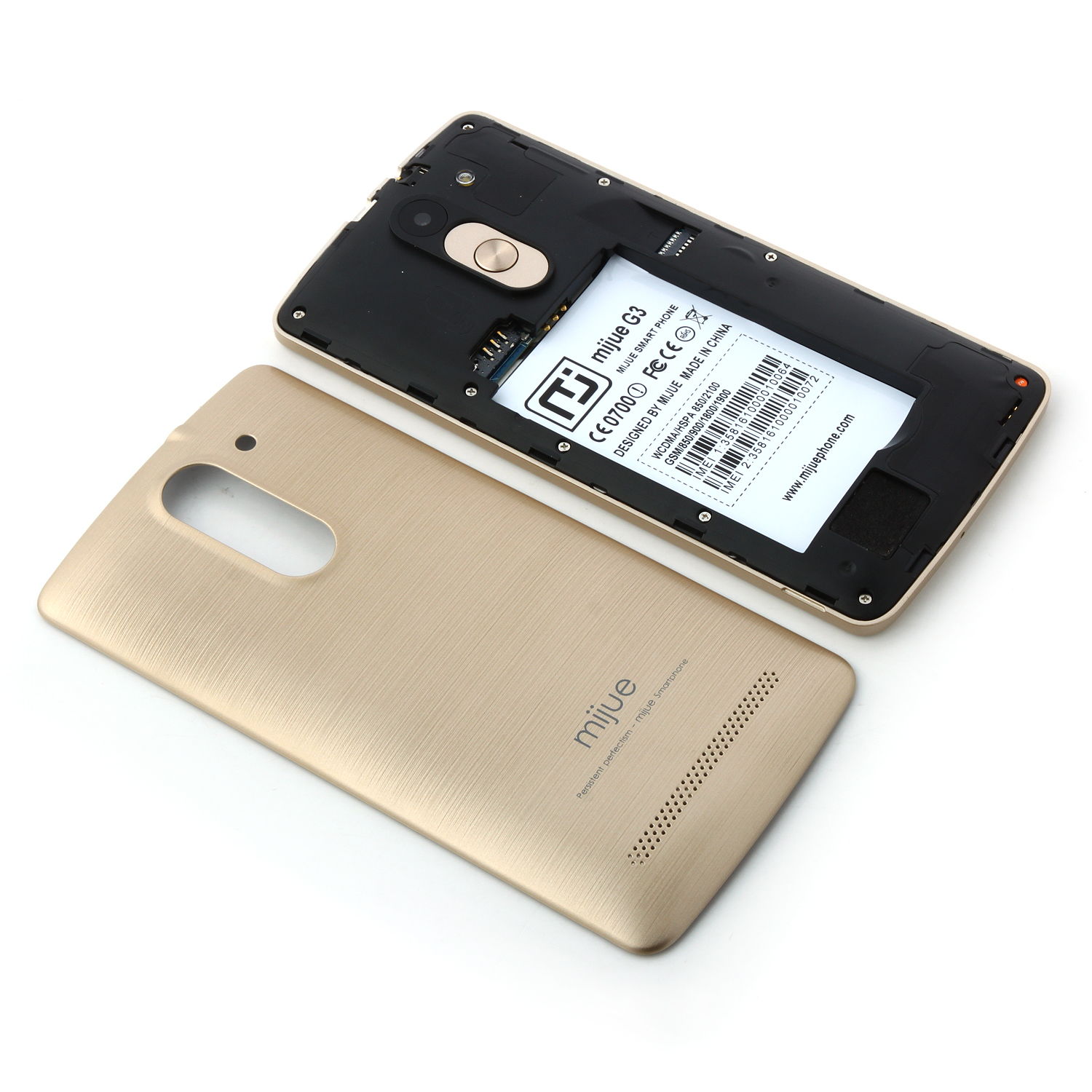Mijue G3 Smartphone Android 4.4 MTK6572 Dual Core 5.0 Inch Smart Wake Air Gesture Gold