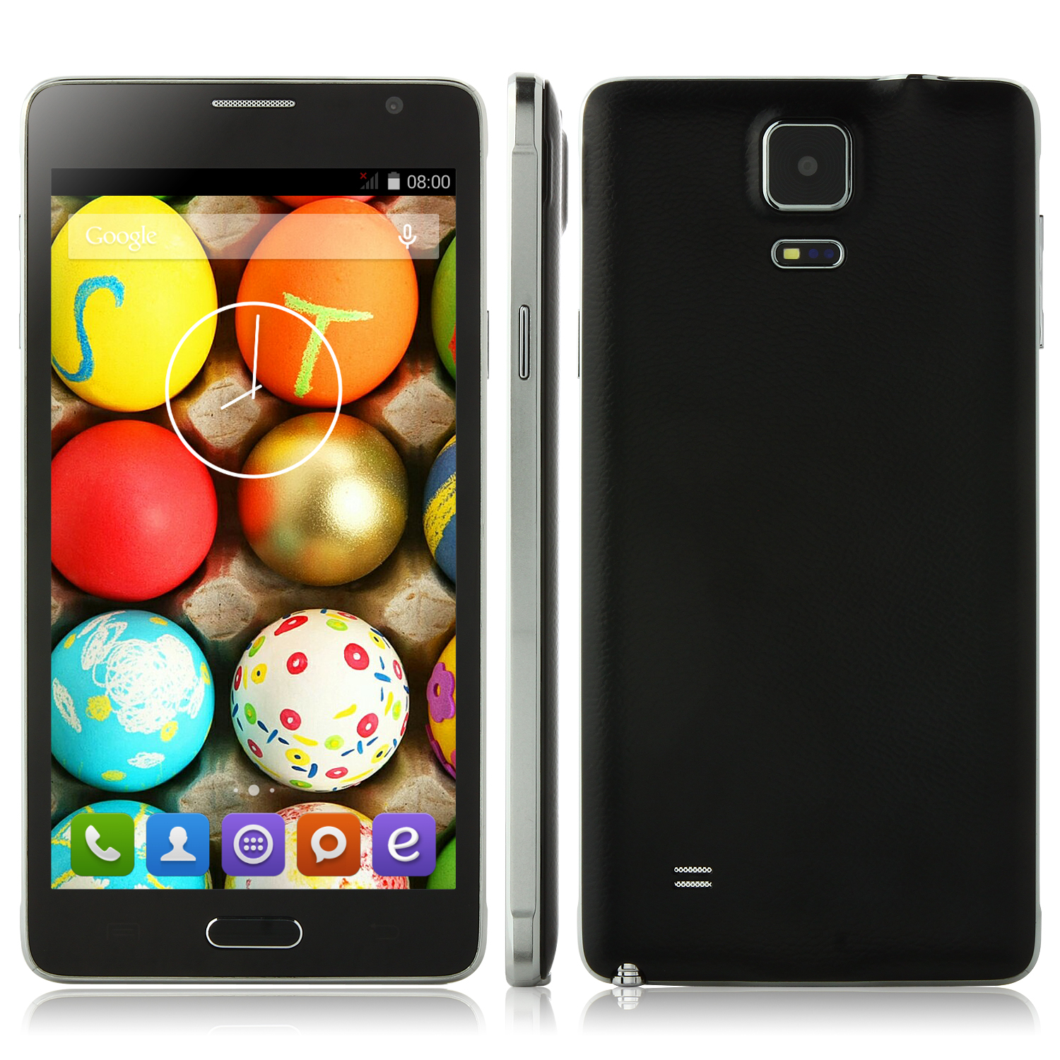JIAKE N9100 Smartphone Android 4.4 MTK6582 Quad Core 1GB 8GB 5.5 Inch QHD Screen Black