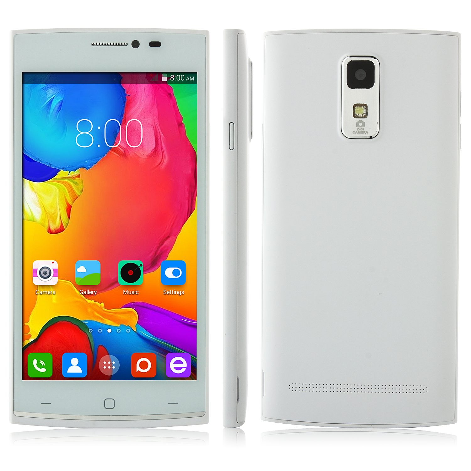 L11 Smartphone Android 4.4 MTK6582 Quad Core 5.0 Inch QHD Screen White