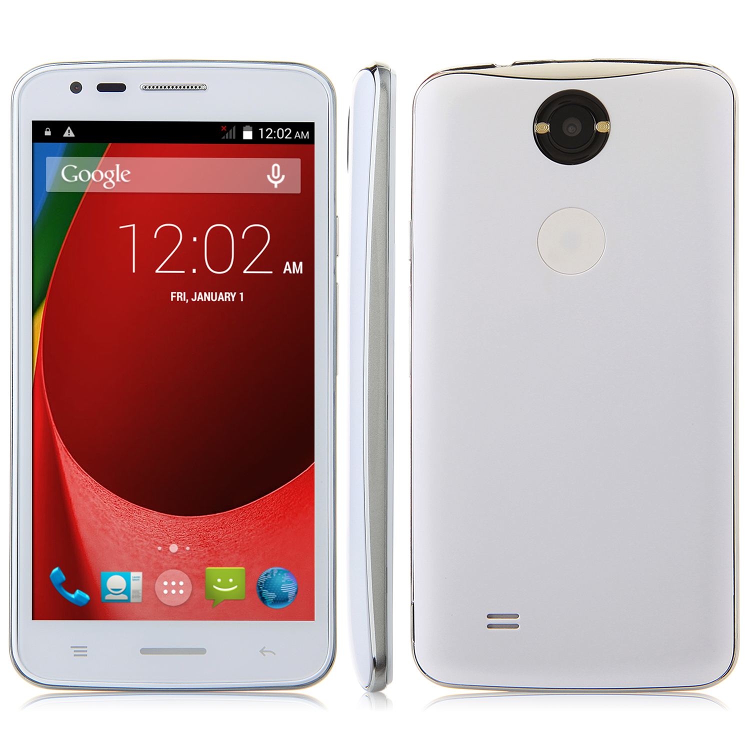 V18 Smartphone Android 4.4 MTK6572 Dual Core 3G GPS 4.5 Inch White