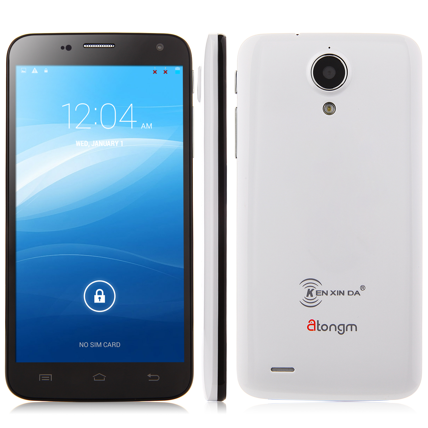 Atongm A6 Smartphone Android 4.4 MTK6582 Quad Core 5.0 Inch QHD Screen 1GB 8GB White