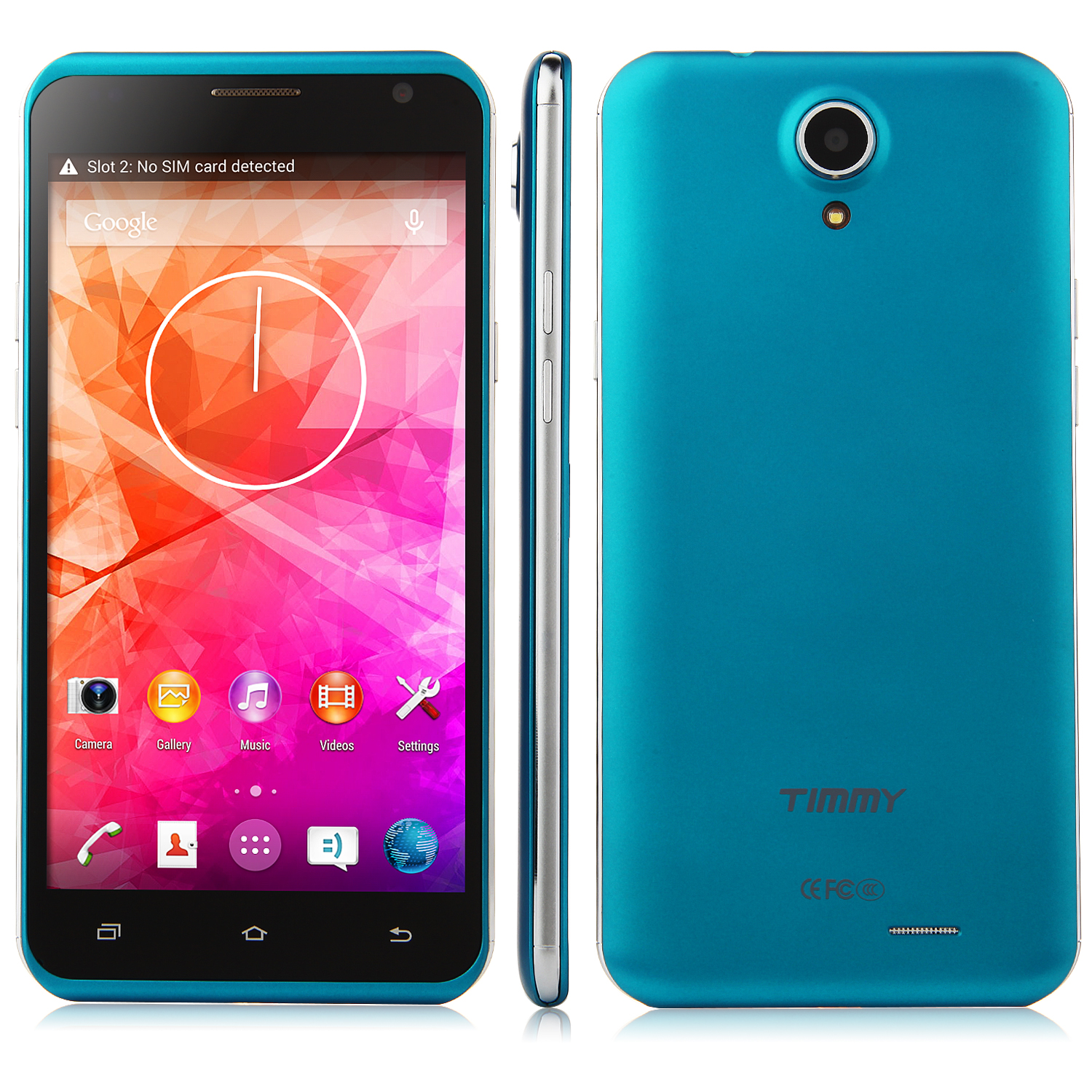 TIMMY E86 Smartphone Android 4.4 MTK6582 Quad Core 5.5 Inch HD Screen 1GB 8GB Blue