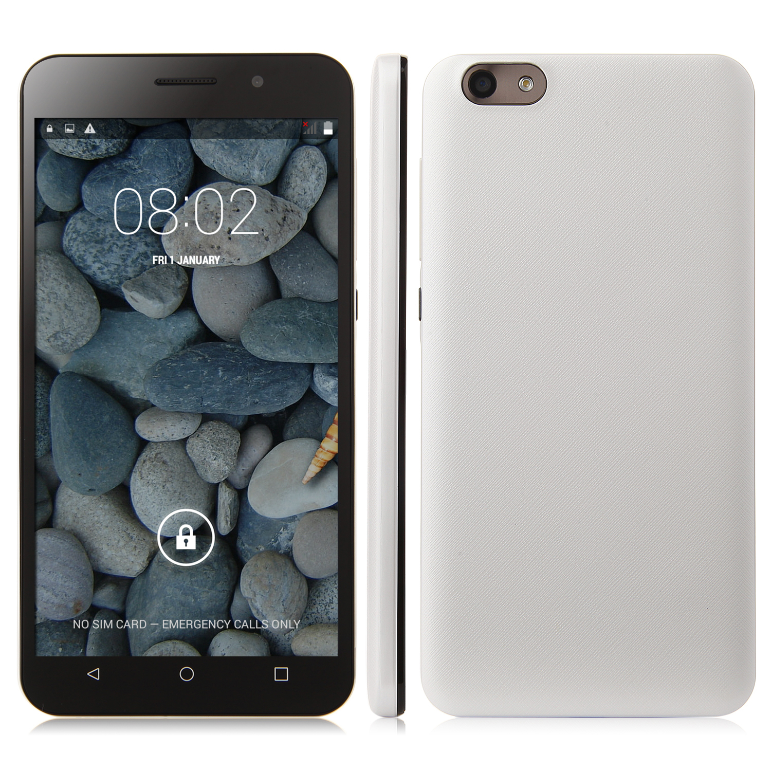 X4 Smartphone Android 4.4 MTK6582 Quad Core 5.5 Inch QHD Screen 512MB 4GB White