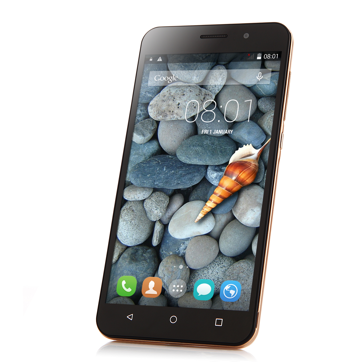X4 Smartphone Android 4.4 MTK6582 Quad Core 5.5 Inch QHD Screen 512MB 4GB Gold